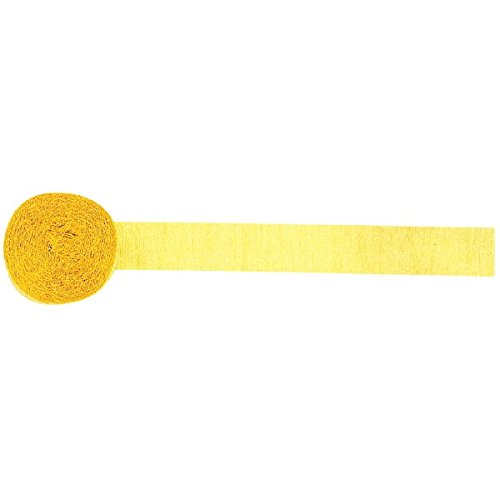 Yellow Sunshine Solid Crepe Streamer | Party Decor