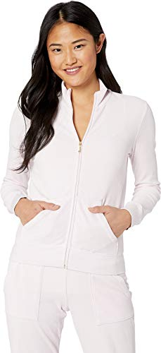 Juicy Couture Women's Fairfax Velour Jacket Peekaboo Large