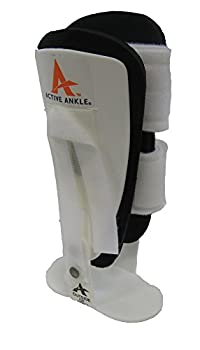 Active Ankle T-1 Ankle Brace (Large, White)