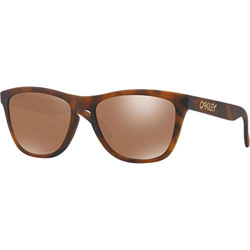 Oakley Men's Frogskins Non-Polarized Iridium Square Sunglasses, Matte Tortoise, 54.7 mm