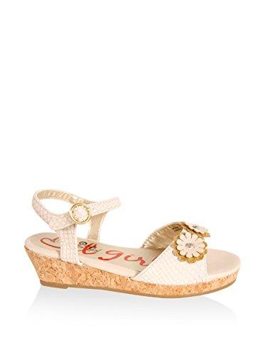 Sandales pour Fille URBAN 221001-B4600 BEIGE-GOLD