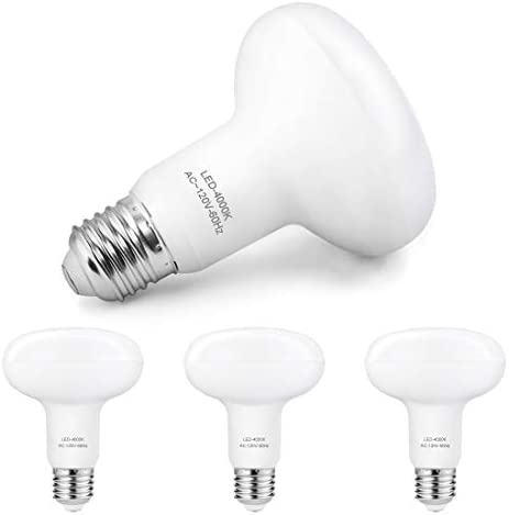 4 Pack Flood Light Bulbs BR30/R30 LED Bulb for Indoor/Outdoor Downlight Recessed Can Light Dimmable 12W=100W Incandescent lamp 4000K (Neutral White) E26 Base 1200 Lumens 25000 Hour Lifetime