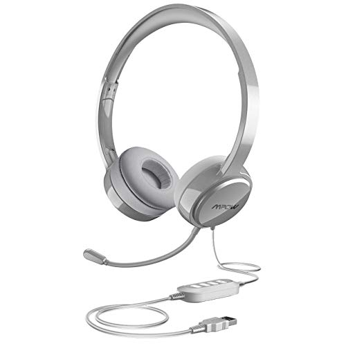 Why Should You Buy Mpow USB Headset (All-Platform Edition) with 3.5mm Jack, Stereo Computer Headset with Microphone Noise-Canceling, Skype Headphones w/Comfort-fit Earpad, Inline Volume Control for PC/Laptop/Cell Phone