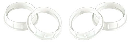 DYSMIO Lighting Socket for Medium Base 2-Inch Aluminum Threaded Socket Ring - 2 Pack