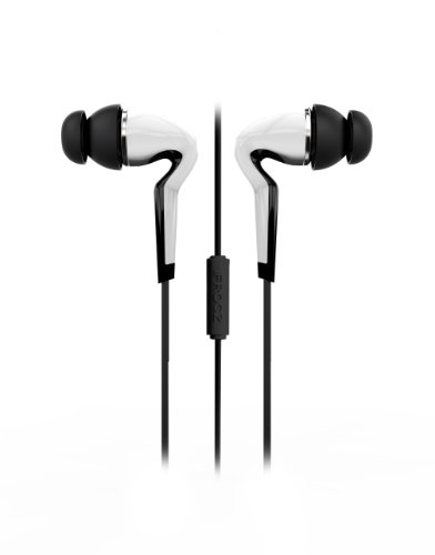 iFrogz IF-SAR-WHT Sarus Ear buds with Mic - Wired Headsets - Retail Packaging - White