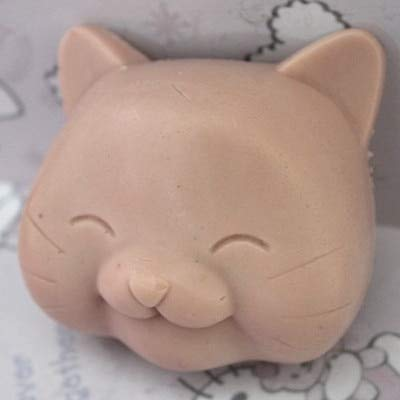Molded Cup Nursing Bra - 3d Cute Cat Face Shape Silicone Mold Soap Fondant Candle Molds Sugar Craft Chocolate Moulds - Molded Dishwasher Bottle Mold Nursing ()