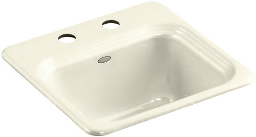 Kohler K-6579-2-FD Northland Self-Rimming Entertainment Sink with Two-Hole Faucet Drilling, Cane Sugar