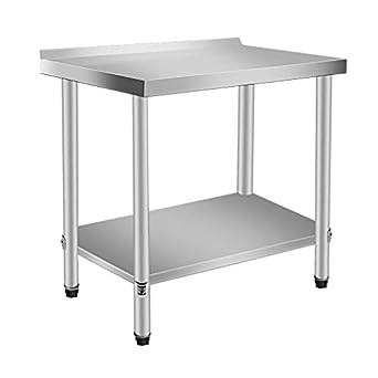 Amazon.com: Kath - Mesa de trabajo de cocina de acero ...