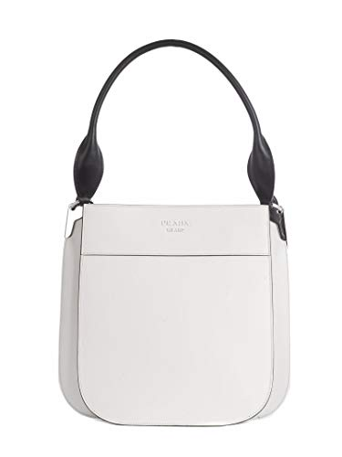 (Prada Women's 1Bc076vooh2aixf0964 White Leather Handbag)