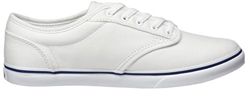 Vans Donna Atwood In Canvas Low Top Stringate Scarpe Da Skateboard In Canvas Bianco Navy