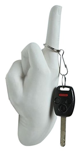 Interior Illusions Middle Finger Hand Wall Hook