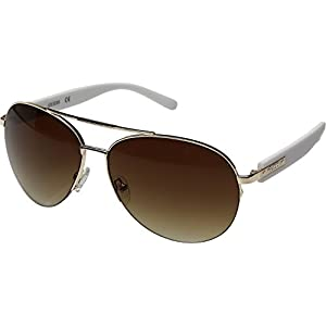 GUESS Unisex GF0160 Shiny Rose Gold/Gradient Brown Sunglasses