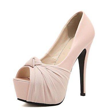 Zormey Women'S Spring Summer Fall Platform Leatherette Dress Party &Amp; Evening Stiletto Heel Black Pink Beige US6 / EU36 / UK4 / CN36