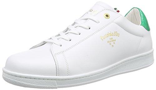 Pantofola d'Oro Nereto - Zapatillas Hombre Varios Colores - Mehrfarbig (BRIGHT WHITE / FERN GREEN)