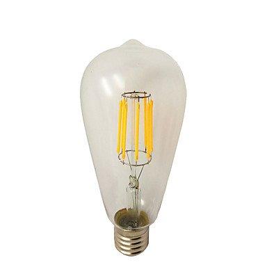 HZZymj-8W E26/E27 Bombillas de Filamento LED ST64 8 COB 780 lm Blanco Cálido Regulable AC 100-240 V 1 pieza: Amazon.es: Hogar