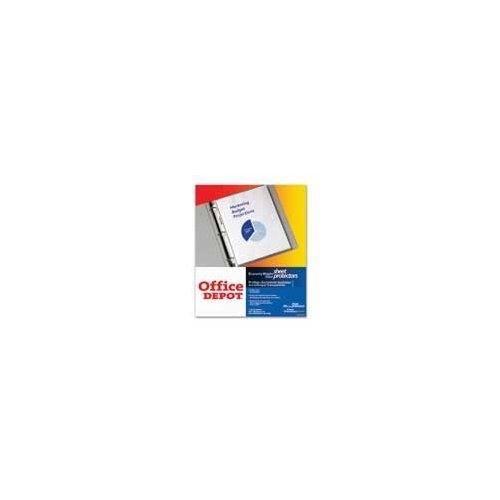 office-depot-top-loading-sheet-protectors-economy-weight-clear-box-of-100