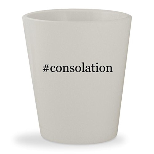 #consolation - White Hashtag Ceramic 1.5oz Shot Glass