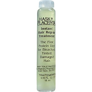 HASK PLACENTA Instant Hair Repair Treatment for Bleached, Tinted, Damaged Hair 5/8oz/18ml (Quantity:1)