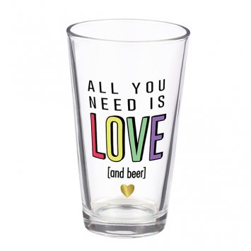 Grassland Road All You Need Is Love Pint Glass