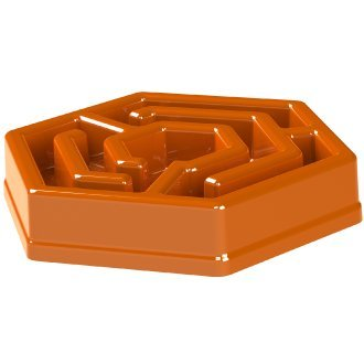 Aïkiou HEXA Dog Slow Feeder Bowl. Interactive Stops Bloat. For Small & Large Healthy Dogs - Orange  by AïKIOU
