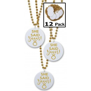 She Said Yaaas, Engagement or Bachelorette Party Favors - 12 beads