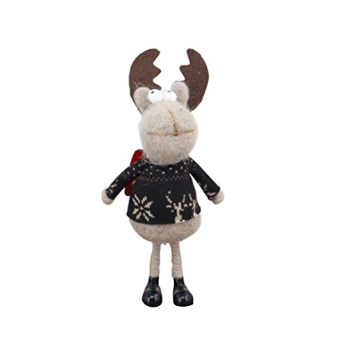 VORCOOL Christmas Standing Figurine Toy Xmas Home Indoor Table Ornament Decorations Great Gift (Dark Color Elk) by VORCOOL