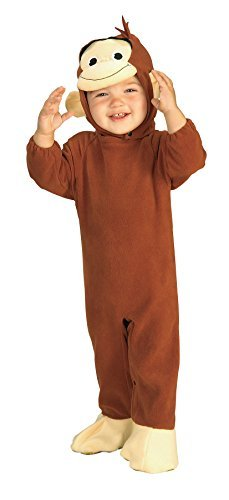 UHC Storybook Curious George Monkey Outfit Infant Halloween Costume, 6-12M