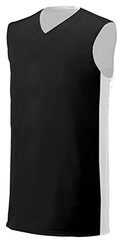 Black Reversible Sleeveless Shirt (A4 N2320 Adult Reversible Moisture Management Muscle - Black & White44; Extra Large)