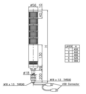 Signaworks USB Interface LED Tower Light