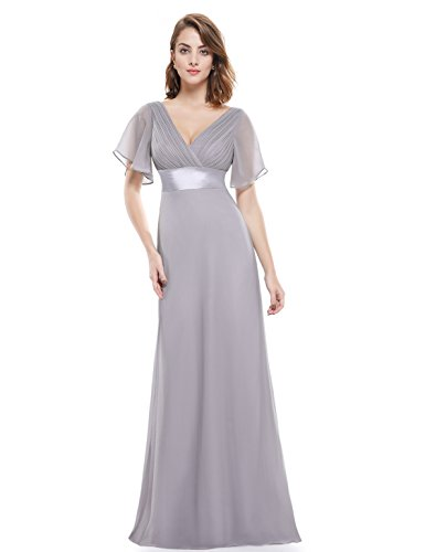Ever-Pretty Womens Empire Waist Long Trailing Evening Gown 6 US Grey (Empire Gown)