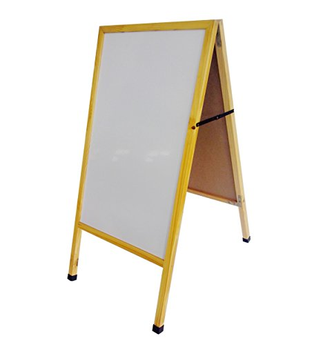 FixtureDisplays A-Frame Sidewalk Sign Menu Board White Wet Erase Board Pavement Promotion Sign 10235White