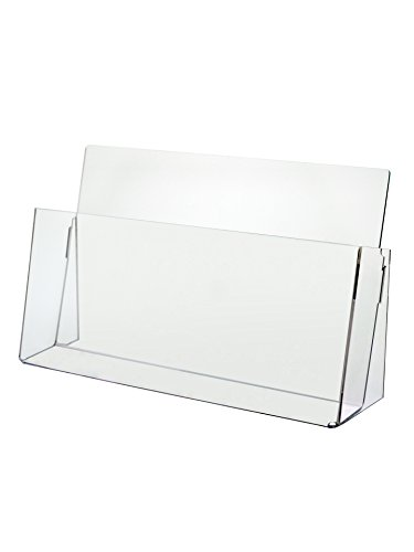 Marketing Holders Clear Acrylic Counter Top Brochure Holder for ''11 x 8 1/2'' Material by Marketing Holders