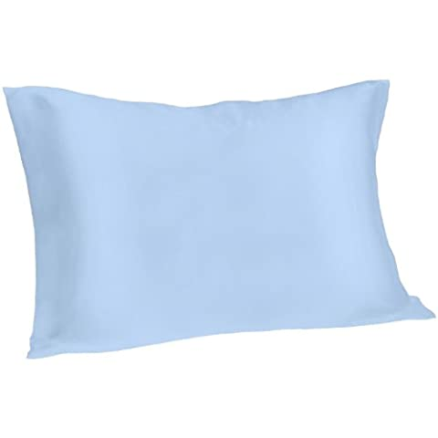Spasilk 100% Pure Silk Pillowcase for Facial Beauty and Hair Health, King Size, Blue - Health And Beauty