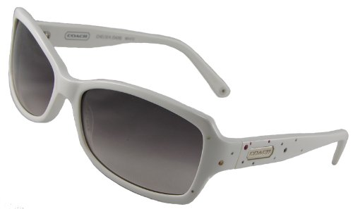 b82d2fcfe111 Amazon.com: Coach Sunglasses, Chelsea S426, White Frame/ Fade Grey ...