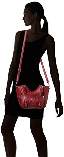 Mujer Mini Desigual Bolso Rojo 3082 bandolera Rotterdam Alexa wZ8aBqXv