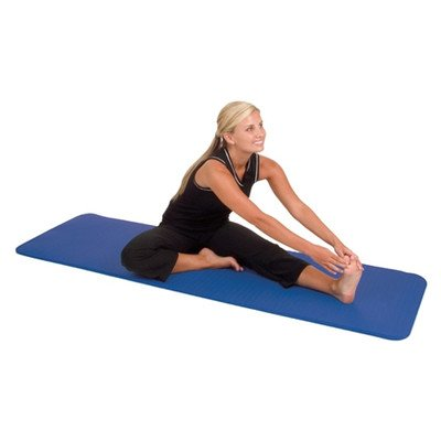 Elite Y14-2472 Yoga / Pilates Mat with Strap Color: Iris Green