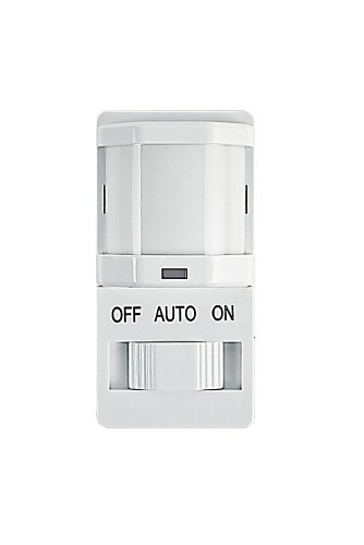 Intermatic IOS-DSIF-WH Decorator PIR Occupancy Sensor with Slide On/Off Button