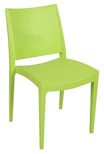 Tensai Libby Collection Durable Plastic Monobloc Chair - Lemon