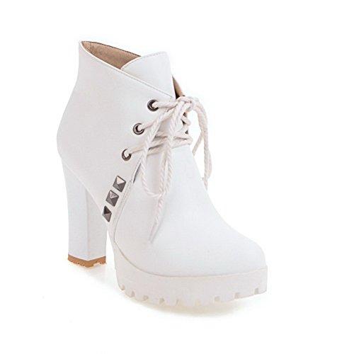 Boots Polypropylene White BalaMasa Rhinestones Dress Womens ABL10454 Platform fwgxqHTaO