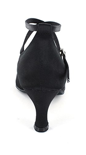 Ballroom Shoes MINITOO Collection Tango Women's Salsa Latin Low Dance Black 601801 Heel ww8Uvq