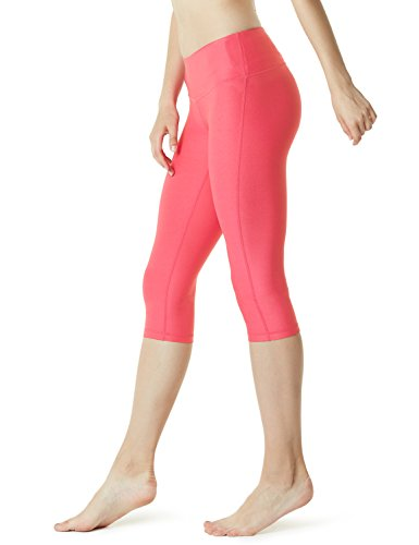 Tesla TM-FYP21-NPK_Medium Yoga 17″ Capri Mid-Waist Pants w Hidden Pocket FYP21