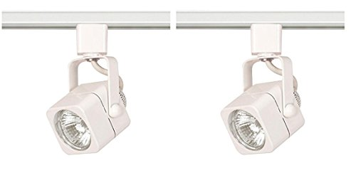 (Nuvo TH312 Mr16 Square Track Head, White (White, 2 Pack))