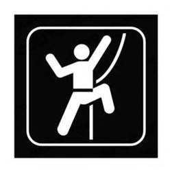 Climbing Sticker - Rock Climbing Sign Rock Climber Hiking Mountains Vinyl Decal Sticker|WHITE|Cars Trucks Vans Suvs Laptops Wall Art|5