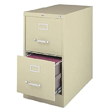Amazon.com : 2-Drawer Commercial Letter Size File Cabinet Finish ...