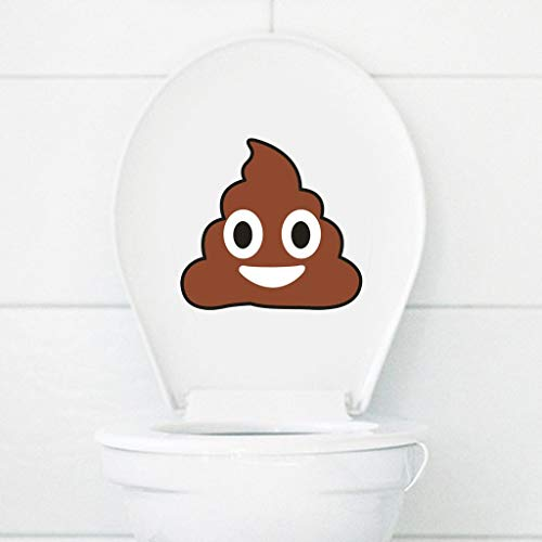 ❀ liyeziaaa ❀ Wall Stickers, Excrement Room Toilet Seat Bathroom Sticker Home Refrigerator Wall Decal Art ()