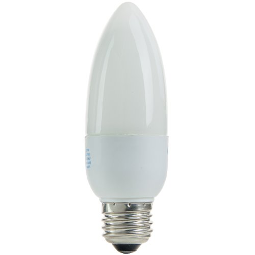 Sunlite SLM7TW/30K SLM Chandelier 7 Watt Energy Saving CFL Light Bulb Medium Base Warm (Fluorescent Chandelier)