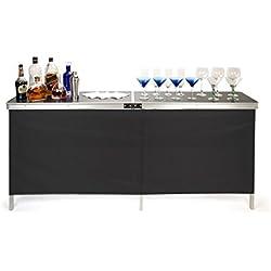 Trademark Innovations Portable Bar Table, Black