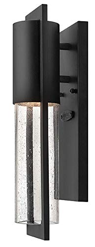 - Hinkley 1326BK Transitional One Light Wall Mount from Shelter collection in Blackfinish,