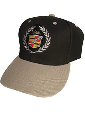 Cadillac Baseball Cap Hat. Black w/Gray Brim. Adjustable New! ()