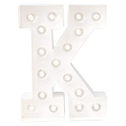 21.6x21.6x5.6 cm Bianco Heidi Swapp Marquee Love Lettera K Paper